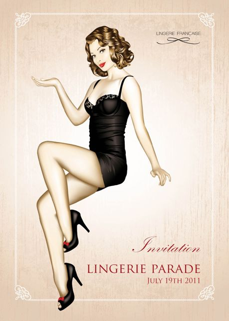 Lingerie Francaise Lingerie Parade lingerie flash mob 1950's pin up lingerie