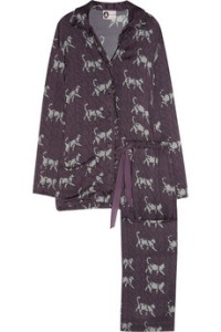 Lanvin Catwalk printed silk pajama set on Net-a-Porter.com Lanvin silk pajamas Lanvin 2011