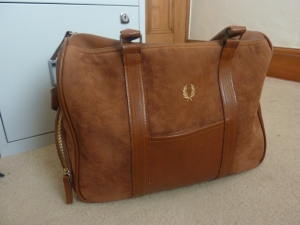 Fred Perry Weekend Bag Today I'm Wearing Fred Perry brown bag Fred Perry satchel Fred Perry suede bag Fred Perry accessories