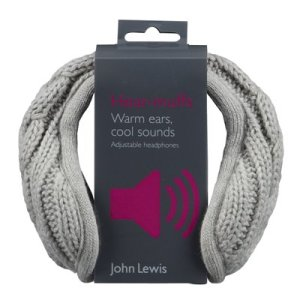 John Lewis Hear-muffs grey John Lewis Hear-muffs white John Lewis Hear-muffs cream John Lewis Hear-muffs black John Lewis Hear-muffs pink