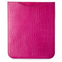 Mulberry Simple Croc iPad Sleeve in Pink, Selfridges iPad case fashionable iPad cover designer iPad cover