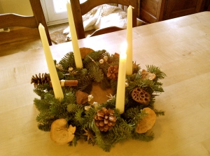 Advent wreath Advent candles Christmas decorations