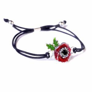 Kleshna poppy bracelet Kleshna 2011 Poppy Crystal Brooch Kleshna poppy ring sparkly poppy Kleshna poppy jewelled poppy sequinned poppy British legion sparkly poppy British legion poppy appeal