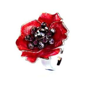 Kleshna 2011 Poppy Crystal Brooch Kleshna poppy ring sparkly poppy Kleshna poppy jewelled poppy sequinned poppy British legion sparkly poppy British legion poppy appeal