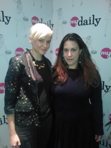 Mary Katrantzou at the MyDaily presents event Mary Katrantzou fashion designer Mary Katrantzou British Fashion Awards Mary Katrantzou 2011 Mary Katrantzou interview 2011