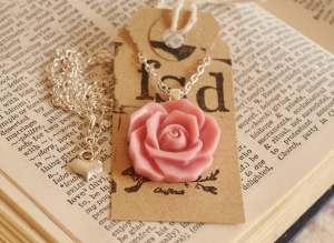 rose pendant necklace Fanciful Sparrow Designs Madeleine Mason start your own business how to get a job pretty jewellery handmade jewellery British crafted jewellery