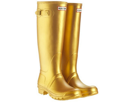 Gold wellies gold welly boots gold hunter wellies gold hunters gold wells festivals 2012 festival chic festival wellies hunters festivals