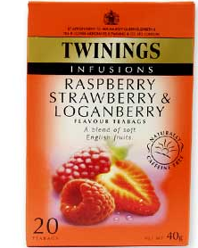 Twinings loganberry rasperry strawberry twinings fruit teas giving up caffeine 2012