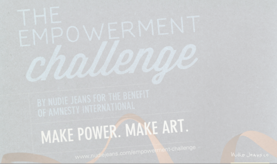 The Empowerment Challenge nudie jeans amnesty international 2012 nudie jeans print competition amnesty international competition 2012 nudie jeans 2012 nudie jeans  empowerment challenge amnesty international