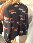 Fox print jumper mens fox jumper topman navy jumper sweater Topman General Store Covent Garden Topman General Store Seven Dials Covent Garden Topman General Store London Topman General Store central London Topman General Store Covent Garden 2012 Topshop mens shop Topshop Men Store Topman store Topman Covent Garden