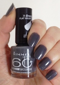 Rimmel man overboard nail varnish 2012 Rimmel man overboard nail polish Rimmel dark grey nail varnish Rimmel dark gray nail varnish Rimmel grey nail varnish Rimmel gray nail polish 2012