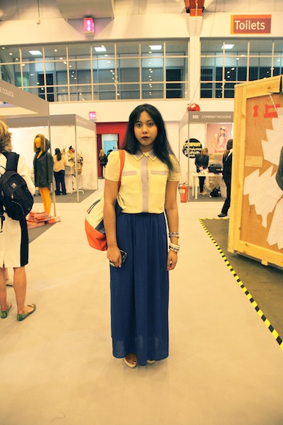 Mehbuda Uddin at Graduate Fashion Week 2012 street style at Graduate Fashion Week 2012 street style photos 2012 graduate fashion week gfw 2012 earl's court exhibition centre graduate fashion week 2012 photos street photos style photos outfit photos