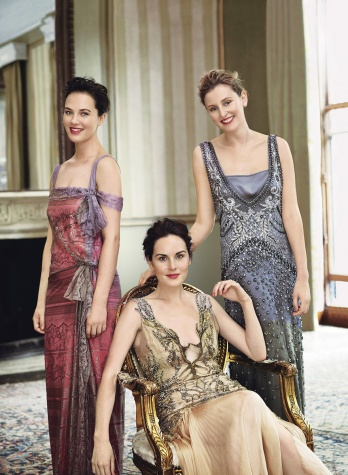 Downton Abbey Vogue fashion shoot