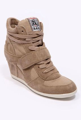 Ash heeled trainers wedge sneakers 2012