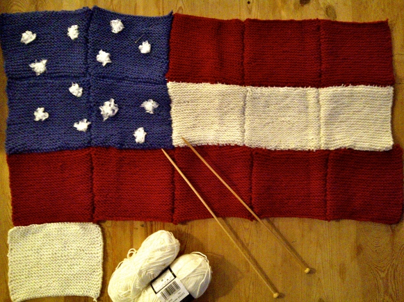 American flag how to knit your own baby blanket