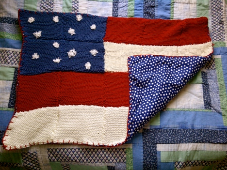 DIY knit an American flag baby blanket Pinterest