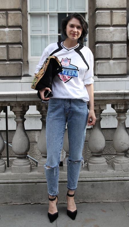 Elizabeth - street style at London Fashion Week the best street style London Fashion Week sping summer 2013 street style photos London Fashion Week September 2012 Somerset House