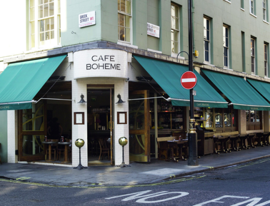 London cafes 2012 best restaurants in Soho 2012 best cafes in soho best french restaurants in London excellent customer service london cafe boheme service