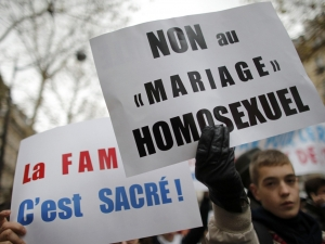French protests against gay marriage, gay marriage legalisation