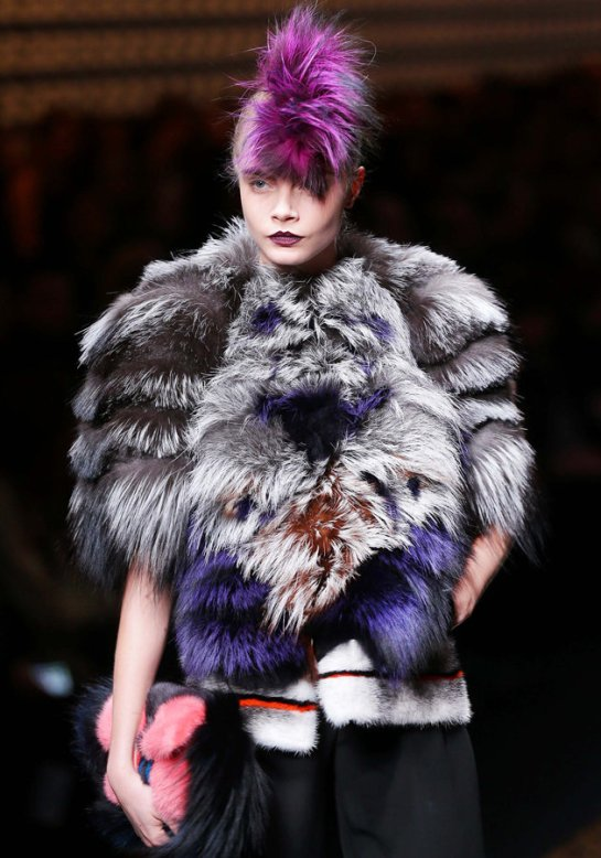 Fendi AW13, Milan Fashion Week, real fur, Karl Lagerfeld