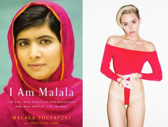 Malala role model Malala Youzafsai Miley Cyrus Terry Richardson 2013