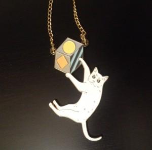 Karen mason necklace 2014 Karen Mabon jewellery 2014 buy Karen Mabon scottish designer swinging cat necklace